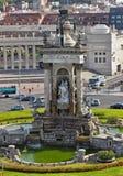 喷泉地标,巴塞罗那,西班牙 免版税库存图片