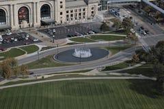 喷泉坎萨斯城 免版税库存图片