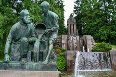 喷泉埃米尔Wikstrom 免版税图库摄影