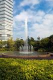 喷泉多庭院的喷气机 图库摄影