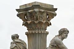 喷泉奥地利议会维也纳奥地利 免版税库存照片