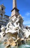 喷泉宙斯在贝尔尼尼的,纳沃纳广场在罗马,意大利 库存照片