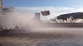 喷泉室外公园的夏天 股票视频