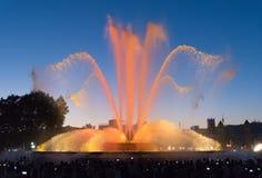 喷泉展示-巴塞罗那-西班牙 图库摄影