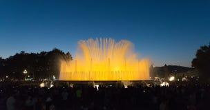 喷泉展示-巴塞罗那-西班牙 库存图片