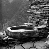 喷泉岩石 免版税库存照片