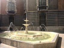 喷泉巴伦西亚 库存图片