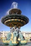 喷泉巴黎 免版税图库摄影