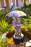 喷泉开玩笑伞水 免版税图库摄影