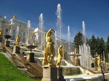 喷泉彼得斯堡st 库存照片