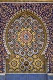喷泉摩洛哥人铺磁砖了典型 免版税库存图片