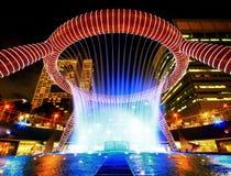 喷泉新加坡财富 库存图片