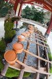 喷泉日本洗净神道圣地 库存图片