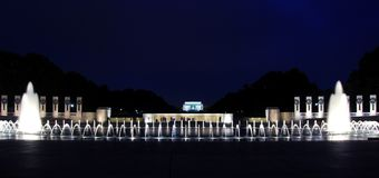 喷泉林肯 免版税图库摄影