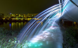 喷泉桥梁美好的颜色 库存照片
