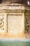 喷泉梵蒂冈 免版税库存图片