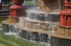 喷泉步 免版税库存图片