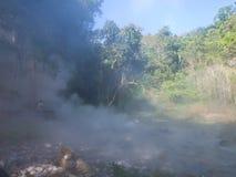 从喷泉温泉的薄雾在槐Nam党国家公园我 免版税库存图片