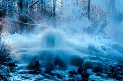 喷泉温泉 库存照片
