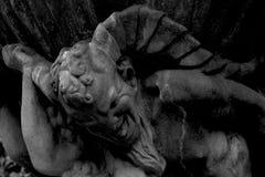 喷泉的半人半兽状的神 库存照片