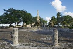 喷泉的外部在拉罗马纳的,多米尼加共和国Altos de Chavon村庄 免版税库存照片