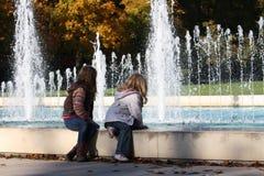喷泉的看法 免版税图库摄影