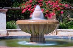 喷泉的长的曝光图象在Descanso庭院的 图库摄影