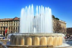 喷泉米兰 库存照片