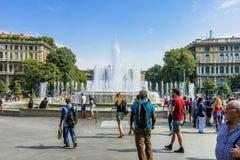 喷泉米兰 免版税库存照片