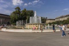 喷泉米兰 库存图片