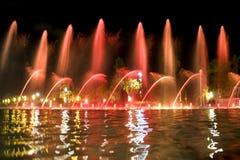 喷泉红色 免版税库存图片