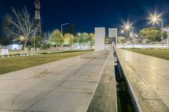 喷泉纪念碑在Castro Verde,阿连特茹 免版税库存照片