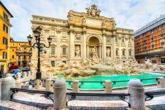 喷泉罗马trevi 意大利 免版税库存图片
