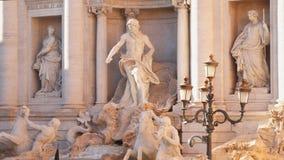 喷泉罗马trevi 股票视频