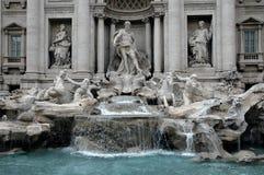 喷泉罗马trevi 库存图片