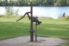 喷泉老水 免版税库存照片