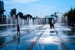 喷泉胡同  库存照片
