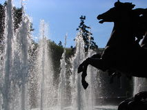 喷泉莫斯科 库存照片