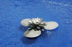 喷泉莲花水 库存图片