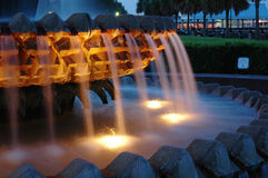 喷泉菠萝 图库摄影