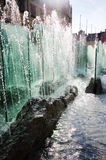 喷泉被阐明的阳光 免版税图库摄影