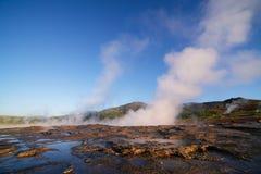 喷泉谷在冰岛 免版税图库摄影