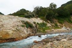 喷泉谷 堪察加 免版税库存图片