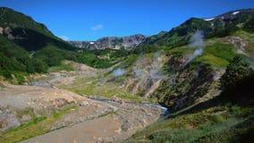 喷泉谷 旅游季节在堪察加半岛 克罗诺基火山自然保护 夏天股票英尺长度录影 影视素材