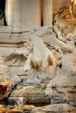 喷泉通配马的纪念碑 库存图片