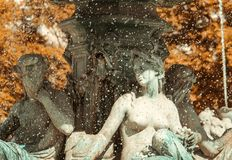 喷泉里斯本 免版税库存图片
