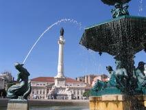 喷泉里斯本 图库摄影
