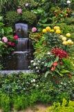 喷泉镜子小河,加拿大 库存图片