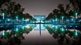 喷泉镜子 免版税库存照片