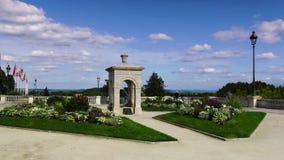 喷泉阿尔弗莱德De Vigny在波城,法国 免版税库存图片